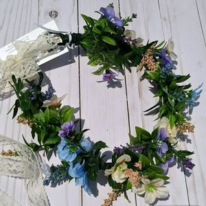 Woman's adjustable special occasion floral crown